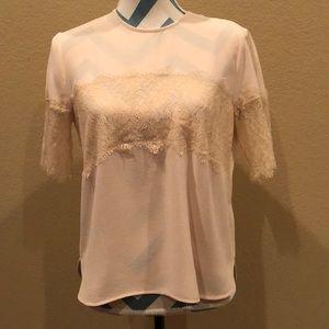 Zara lace paneled blouse!